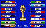 FIFA International Soccer DOS The cup table