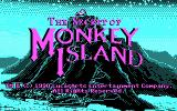 The Secret of Monkey Island DOS The EGA version supported CGA graphics as well--Title screen