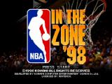 NBA in the Zone '98 Nintendo 64 Title screen.