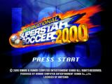International Superstar Soccer 2000 Nintendo 64 Title screen.