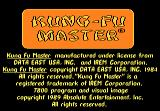 Kung-Fu Master Atari 7800 Title screen