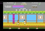 Kung-Fu Master Atari 7800 Dagger thrower on first floor.