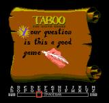 Taboo: The Sixth Sense NES Choose a Question