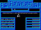 Death or Glory ZX Spectrum High score entry