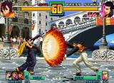 The King of Fighters 2001 Neo Geo With her move Hero Uke, May Lee (Hero Mode) is ready to guard-parry Robert's Haou Shoukou Ken: OK...