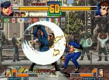 The King of Fighters 2001 Neo Geo Shingo Yabuki didn't wait for this: be struck by Heidern's Moon Slasher (assisted by Joe Higashi)!