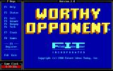 Worthy Opponent DOS Start screen