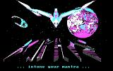 Xiphos DOS Title screen (CGA)