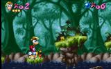 Rayman DOS Rayman does not like water.