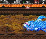 Darius Alpha TurboGrafx-16 A good tactic is to stay away from his mouth and bomb his fins