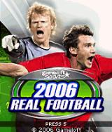 2006 Real Soccer J2ME Title Screen