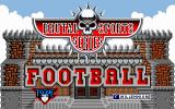 Brutal Sports Football DOS Title screen