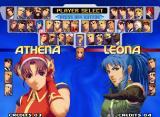 The King of Fighters 2000 Neo Geo Character selection.