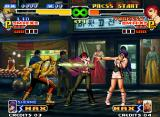 The King of Fighters 2000 Neo Geo Lin tries to hit-attack Vanessa with his poison-like move Kasumi, but she is quick in the defensive!