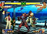 The King of Fighters 2000 Neo Geo Takuma's open guard: the best chance for Maxima to execute his grabbing-command move Skull Crush!