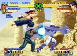 The King of Fighters 2000 Neo Geo Through a calculated air kick, Kasumi escapes from Takuma's Ko'ou Ken and King Lion's punch attack.