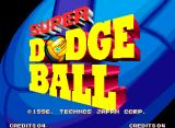 Super Dodge Ball Arcade Title screen (US version).
