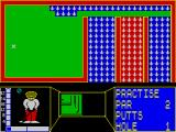 Mini-Putt ZX Spectrum Deluxe course, hole 1.