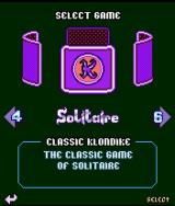 Platinum Solitaire J2ME Game type selection screen