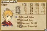 Summon Night: Swordcraft Story 2 Game Boy Advance A look at your equipment shows the 3 weapons you have equipped as well as the 1 item that you can equip