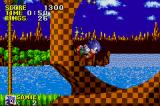 Sonic the Hedgehog Game Boy Advance Sonic dashes through a loop