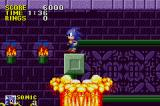 Sonic the Hedgehog Game Boy Advance Lava occasionally bubbles up and lifts you into the air
