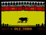 Olé, Toro ZX Spectrum 0 points, not bad for first time