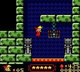 Wendy: Every Witch Way Game Boy Color These red platforms can only be jumped through in the direction of the yellow arrows