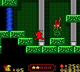 Wendy: Every Witch Way Game Boy Color Certain enemies try to hide in the bushes in this level