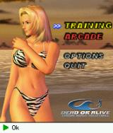 Dead or Alive: Xtreme Beach Volleyball J2ME Main menu screen