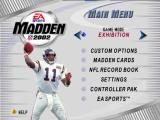 Madden NFL 2002 Nintendo 64 Menu screen.