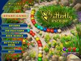 Butterfly Escape Windows The main menu shows the balls rolling down their paths