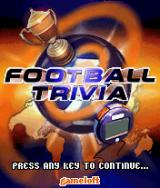 Football Trivia J2ME Title screen