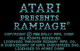 Rampage Lynx Copyright screen