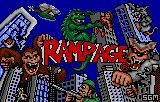 Rampage Lynx Title screen