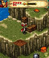 Might and Magic J2ME Use crates to reach higher levels.