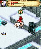 Might and Magic J2ME Have Captain transform into a wolf and ride on his back to reach higher areas.