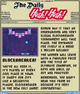 Block Breaker Deluxe J2ME The announcement of the secret tournament in The Daily Hush! Hush!