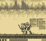 Teenage Mutant Ninja Turtles:  Fall of the Foot Clan Game Boy Level 1:  A City Street