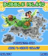 Bubble Bash! J2ME A map of Bubble Island. You need to complete section to unlock a next part.