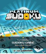 Platinum Sudoku J2ME Title screen