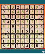 Platinum Sudoku J2ME This puzzle is almost complete, but likely far from correct.