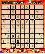 Platinum Sudoku J2ME You can temporarily add four numbers into a single cell to keep the options open.