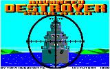 Advanced Destroyer Simulator Amstrad CPC Title screen.