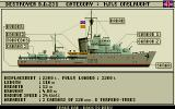Advanced Destroyer Simulator DOS Our ship, the destroyer H.M.S. Onslaught.