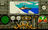 Advanced Destroyer Simulator DOS Cannon battle with simultaneous hits.