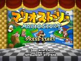 Paper Mario Nintendo 64 Title screen (Japanese version)