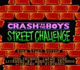 Crash 'N the Boys: Street Challenge NES Title screen