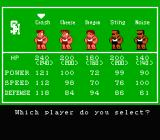 Crash 'N the Boys: Street Challenge NES Select your player for the challenge