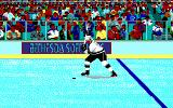 Wayne Gretzky Hockey DOS Animated Hockey Player in Intro